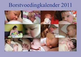 Voorkant borstvoedingkalender 2011